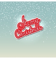 Text Merry Christmas on Snowfall Background vector image vector image