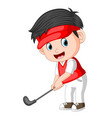 the children profesional golfer ilustration vector image