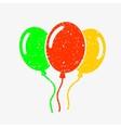 Three bright balloons vector image vector image