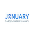 thyroid awareness month concept vector image