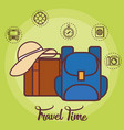 travel time design vector image vector image