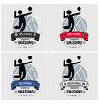 volleyball club logo design artwork of vector image