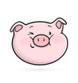 winking emoticon icon emoji pig vector image