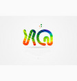 xq x q rainbow colored alphabet letter logo vector image vector image
