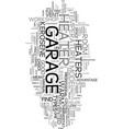 your garage a home office text word cloud concept vector image vector image