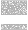 Background white movie icon set vector image