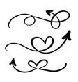 abstract arrows set doodle hand made vector image vector image