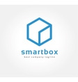 Abstract box logo icon concept Logotype template vector image vector image