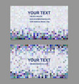 Abstract square design business card template vector image vector image