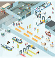 airport zones isometric design vector image vector image