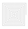 archimed spiral square reference vector image