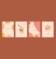 autumn backgrounds with leaves plants berries vector image