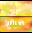 background autumn golden bokeh as background vector image vector image