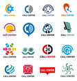 big set of logos call center vector image