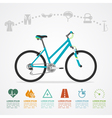 bike riding infographic vector image vector image