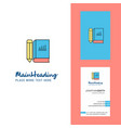 book and pencil creative logo and business card vector image vector image