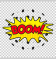 boom comic sound effects sound bubble speech with vector image vector image