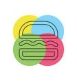 burger sandwich icon - fast food icon vector image