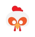 Cartoon rooster mask vector image vector image