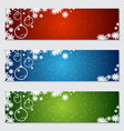 christmas and new year colorful banners vector image vector image