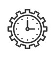 clock and gear time management or maintain icon vector image