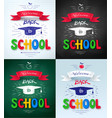 collection of welcome back to school posters vector image vector image