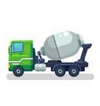 concrete mixing truck flat design vector image vector image