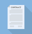 Contract document paper vector image vector image