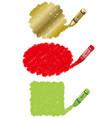 crayon daub background vector image vector image