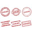 Danger stamps vector image