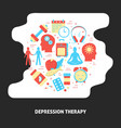 depression therapy banner with round concept in vector image vector image