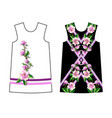 design dress with magnolia flowers vector image vector image