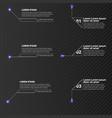 digital callouts titles set templates vector image