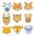 doodle of animal colorful style vector image vector image