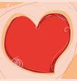 draw heart with decoration on light background vector image