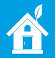 eco house concept icon white vector image vector image