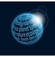 Eco planet icon vector image
