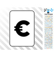 euro card with bonus vector image vector image