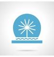 Festive fountain glyph style icon vector image vector image