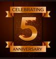 five years anniversary celebration design banner