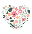floral decorative heart from leaves and flowers vector image vector image