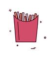 fries icon design vector image