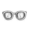 glasses horn-rimmed fashion accessory ink vector image vector image