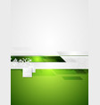 Green grey tech contrast background vector image vector image