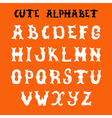 Hand drawn font Sketch style alphabet vector image