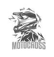 helmet motocross motocross vector image vector image
