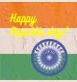 indian art flag indi republic day freedom vector image