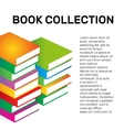 Isolated colorful books collection logo vector image vector image