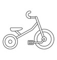 kid tricycle icon outline style vector image vector image