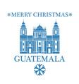 Merry Christmas Guatemala vector image vector image